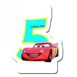 Bougie Cars Chiffre 5 pour décorer parfaitement le gâteau d'anniversaire.