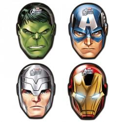 6 Masques Avengers, dont les 4 héros principaux du film. Finition et impression impeccables.