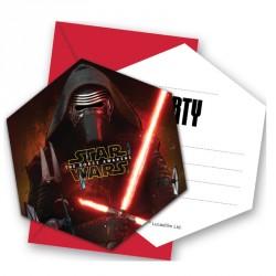 6 cartes d'invitation Star Wars + Enveloppe, un moyen original d'inviter tous les copains de votre enfant.
