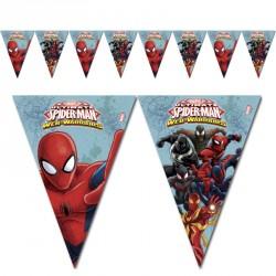 Guirlande Spiderman drapeaux pour une décoration intérieure ou extérieure parfaite.