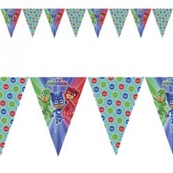 Guirlande Pyjamasques 9 drapeaux pour assurer une ambiance des plus festives.