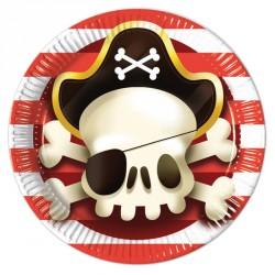 8 Assiettes Pirate 23 cm pour un anniversaire pirate très réussi.