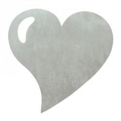 50 Sets de table cœur gris, en tissu non tissé polyester.