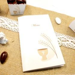 10 Menus Calice épi d'une conception idéale pour y inscrire vos mets gourmands.
