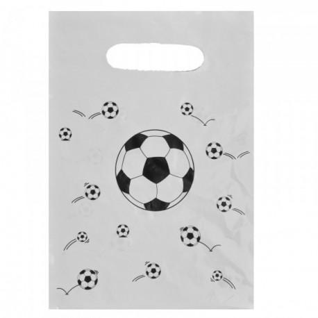 6 Sacs football plastique anniversaire