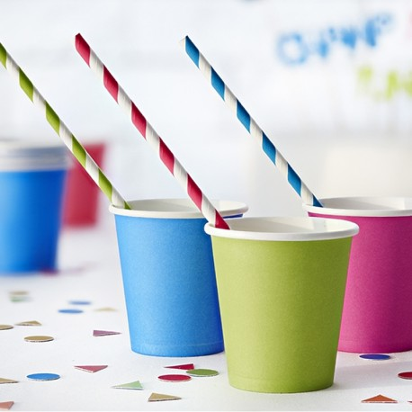 6 gobelets Mix de couleur pour un anniversaire festif.