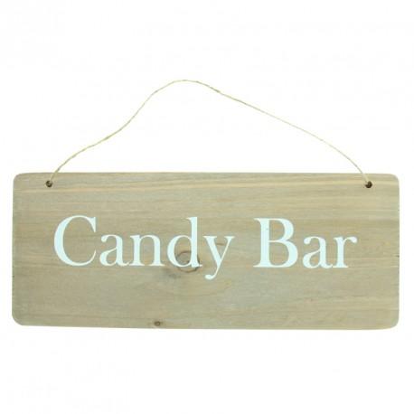 """Pancarte en bois """"Candy Bar"""". Rien de plus beau que le naturel."""