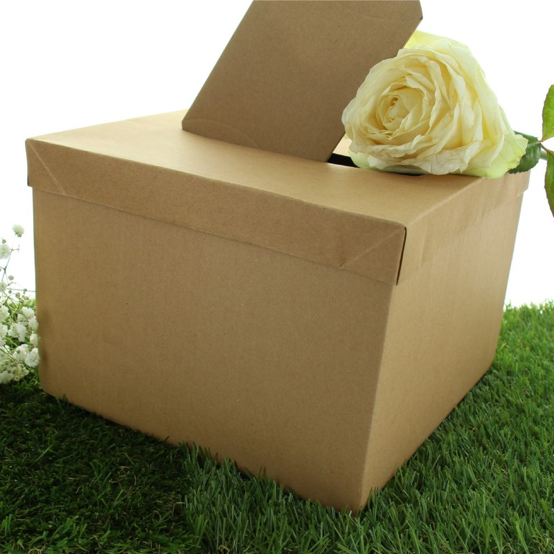 urne en carton kraft pas cher pour mariage colo et. Black Bedroom Furniture Sets. Home Design Ideas