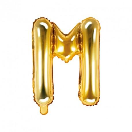 Ballon Lettre M Or 35cm