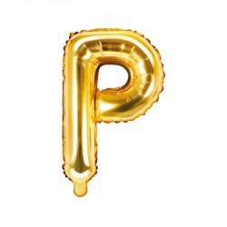 Ballon Lettre P Or 35cm