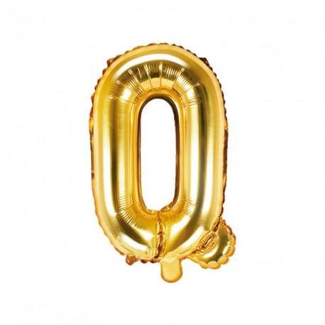 Ballon Lettre Q Or 35cm