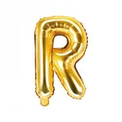 Ballon Lettre R Or 35cm