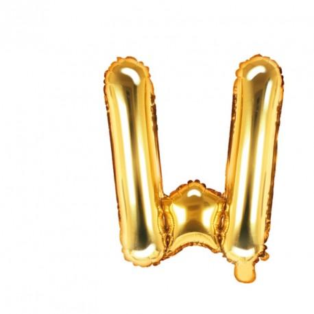 Ballon Lettre W Or 35cm