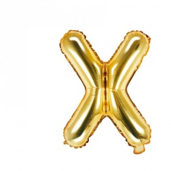 Ballon Lettre X Or 35cm