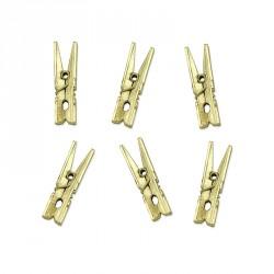 10 petites Pinces à linge OR pour apporter une touche d'originalité à vos décorations lors de vos événements heureux.
