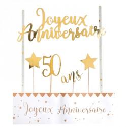 Déco de gâteau Anniversaire 50 ans pour marquer votre gâteau d'anniversaire 50 ans.