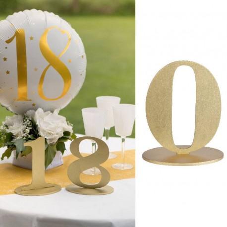 Marque table chiffre 0 Or parfait pour numéroter vos tables.