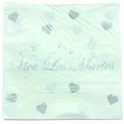 20 serviettes de table vive les mariés