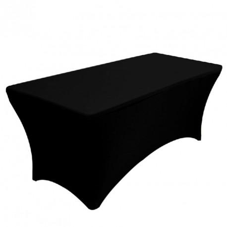 Nappe Rectangulaire noire Lycra Spandex extensible
