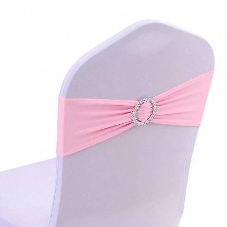 Noeud de chaise rose en Lycra avec Boucle