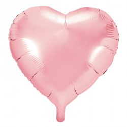 Ballon coeur métallisé Rose 45cm