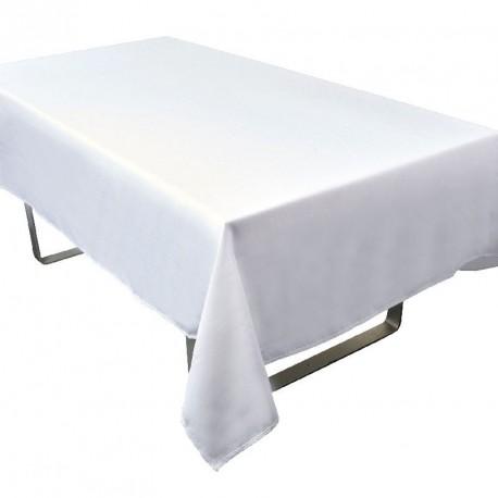 location nappe rectangle blanche mariage pas cher - dragées anahita