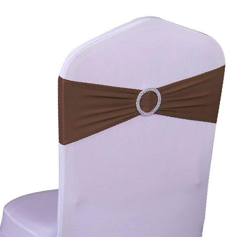 Noeud De Chaise Chocolat En Lycra Avec Boucle