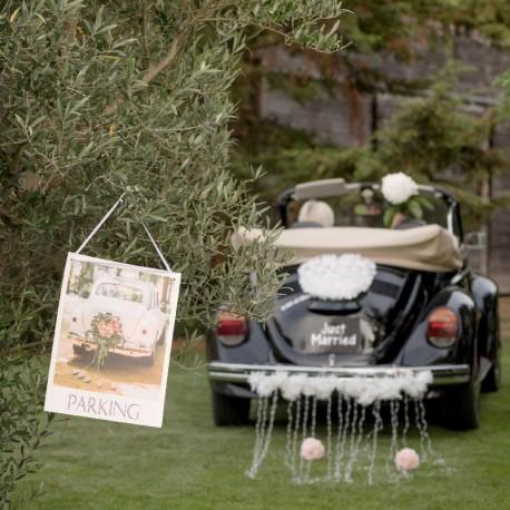 Pancarte Parking pour mariage Romantique