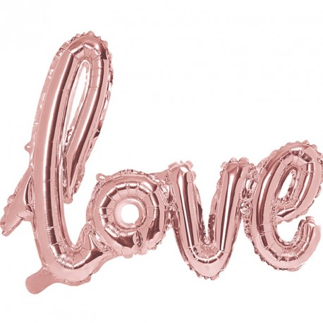 Guirlande ballon Love rose gold
