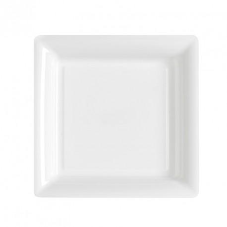 12 petites Assiettes blanche rigides et réutilisables