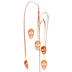 Branche tête de mort halloween orange