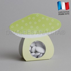 Ballotin à dragées champignons vert