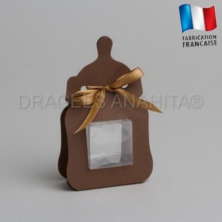 Contenant dragées biberon chocolat pas cher