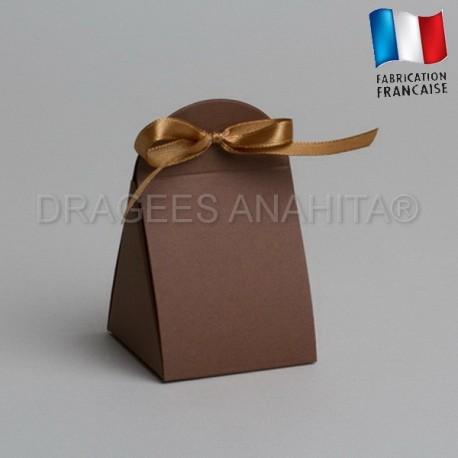 pochon à dragées couleur chocolat