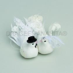 couple oiseaux mariage