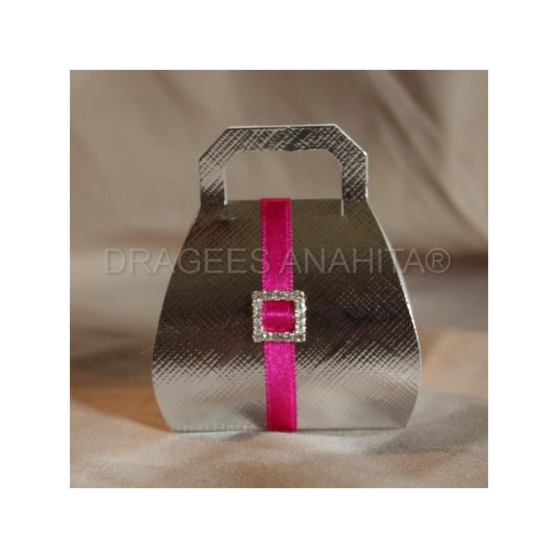 boite drag es sac a main argent 2 boite drag es de prestige pour mariage naissance et. Black Bedroom Furniture Sets. Home Design Ideas