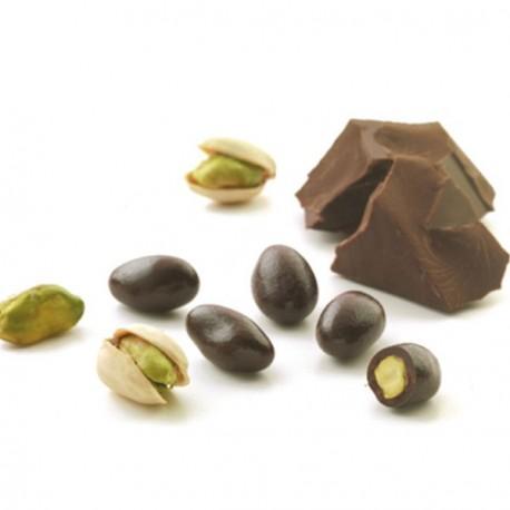 Pistache enrobée de chocolat fondant