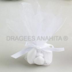 Tulle à  dragées de couleur blanc tulle à dragées pour mariage