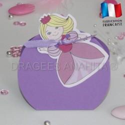 Boite pour dragées petite princesse