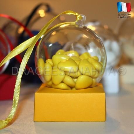 Support à dragées jaune