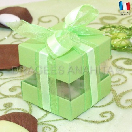 Cube à dragées vert