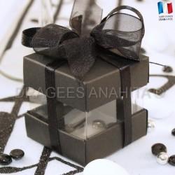Cube à dragées noir