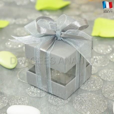 Cube à dragées gris