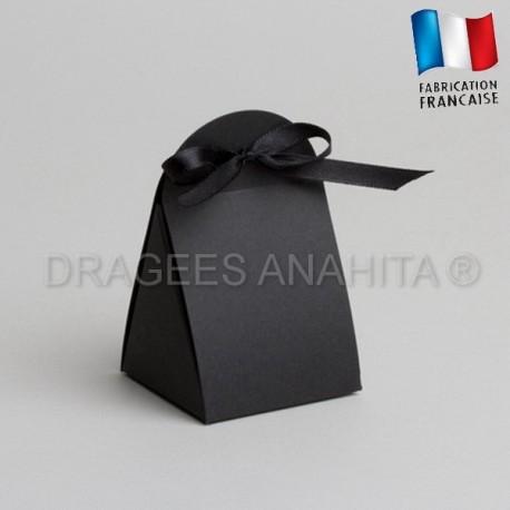 Emballage à dragées noir