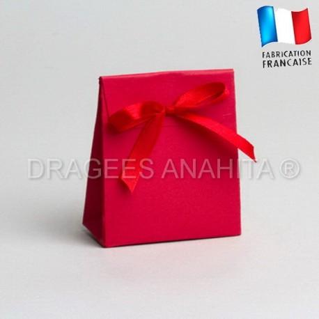 Mini pochon à dragées rouge
