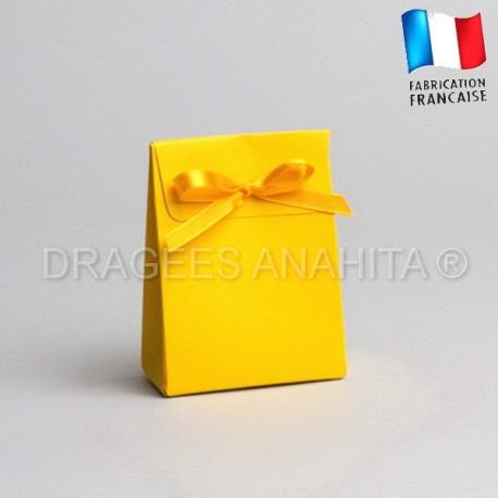 Pochon à dragées jaune