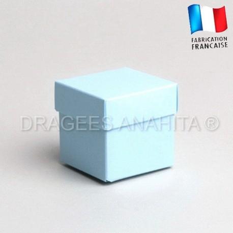 Cube uni à dragées bleu ciel