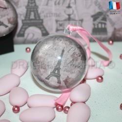 Boule à dragées thème Paris