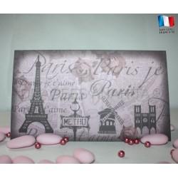 Faire-Part de mariage thème Paris