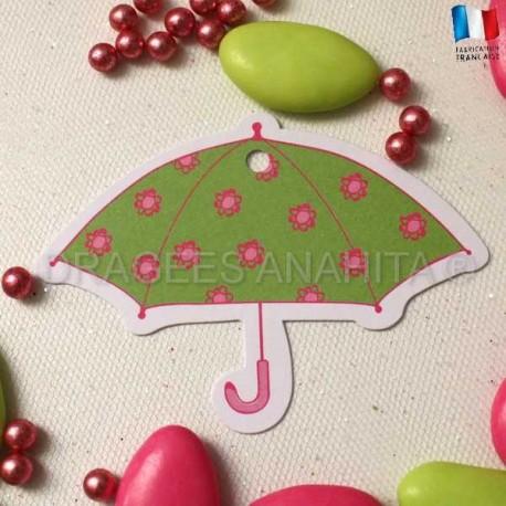 Etiquette pour dragées parapluie